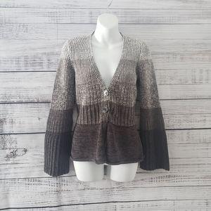 2/20$😜 Calvin Klein Gray/Brown Knit Sweater Large